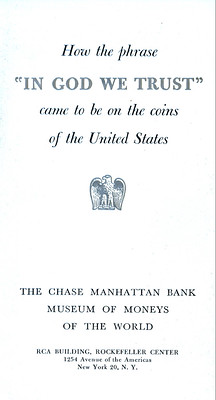 Chase Manhattan Bank Money Museum pamphlet In God We Trust page 1