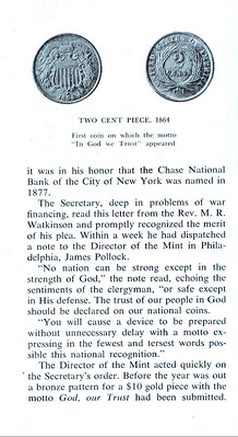 Chase Manhattan Bank Money Museum pamphlet In God We Trust page 3