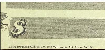 blank 1862 Civil War Paycheck closeup1
