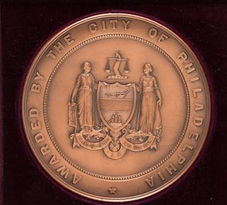 Eckert ENIAC Computer John Scott Medal obverse