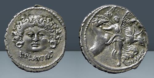 L. Plautius Plancus denarius