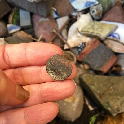 1640 Louis XIII Double Tournois copper found mudlarking