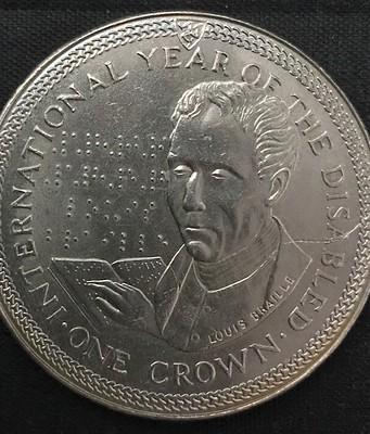 Louis Braille 1 Crown Isle of Man
