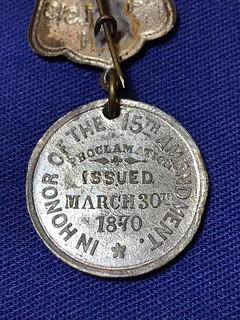 15th Amendment medal reverse