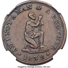 Am I Not a Man and Brother token obverse