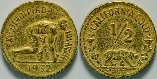 1932 Olympiad Souvenir Gold Fractional Token