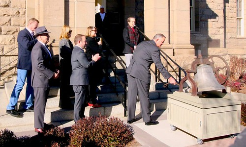 Director Ryder rings Carson City Mint bell