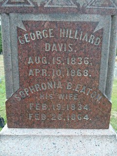 George Hilliard Davis tombstone