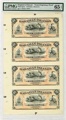 1879 Hawaii Silver Certificate of Deposit