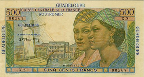 Guadeloupen 500 Francs