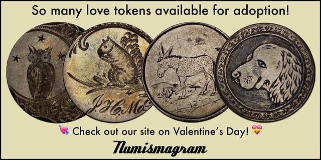 E-Sylum Numismagram ad29 Love Tokens
