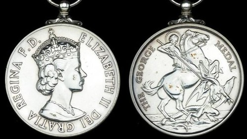 George Medal for saving Princess Anne