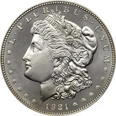 Chapman Proof 1921 Morgan dollar obverse