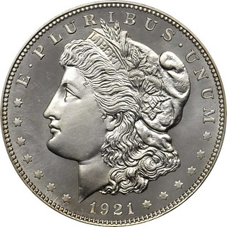 Chapman Proof 1921 Morgan dollar obverse