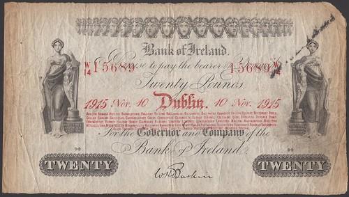 Lot 20 - 1915 Bank of Ireland £20