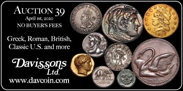 Davisson E-Sylum ad Sale39 2020-03-01