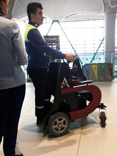 Istanbul airport motorized wheelchair