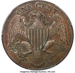 1791 Washington President Cent reverse
