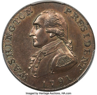 1791 Washington President Cent obverse
