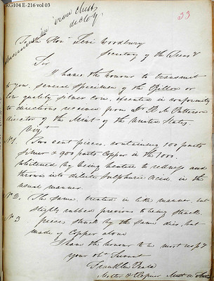 Franklin Peale letter to Levi Woodbury pattern billion and 2-cent_Page_1