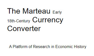 Marteau Early 18th Century Currency Converter