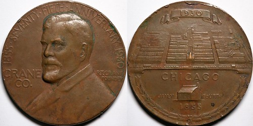 1930 Crane Co. 75th Anniversary Medal