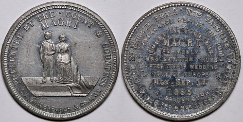 Gen. and Mrs. Tom Thumb Wedding Circus Token