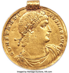 Constantine the Great Gold Medallion obverse
