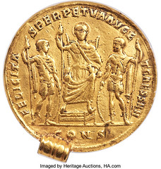 Constantine the Great Gold Medallion reverse