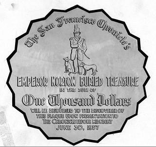 Emperor Norton star-shaped medallion obverse