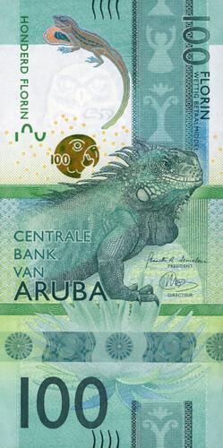 2019 Aruba 100 Florin note front