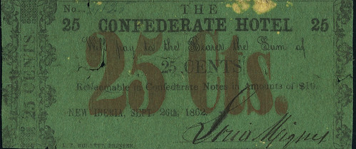 Confederate Hotel 25¢ Scrip