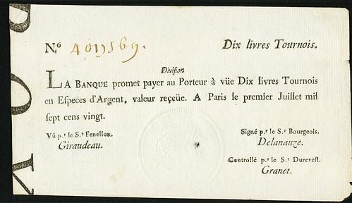 1720 Louisiana 10 Livres