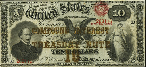 1864 $10 Compound Interest Treasury Note