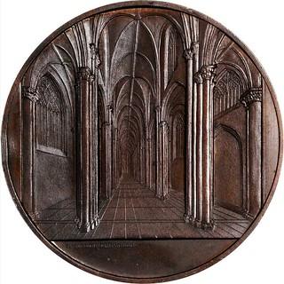 1853 Monastery of Batalha Bronze Medal reverse