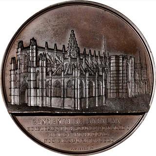 1853 Monastery of Batalha Bronze Medal obverse