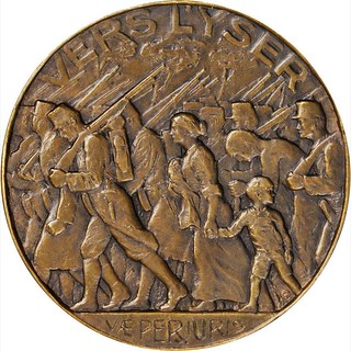 1914 Battle of the Yser Medal reverse