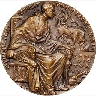 1914 Bribing of Pope Benedict XV Medal obverse