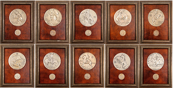 Holabird April 2020 Lot 4355 21 Club Restaurant medallions