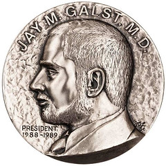 Jay Galst New York Numismatic Society medal obverse
