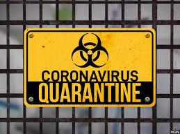 coronavirus quarentine sign