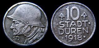 Stadt Duren 10 pfennig notgeld coin