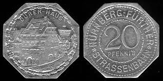 Durer Haus 20 pfennig Germsn notgeld coin