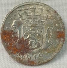 encrusted zinc German notgeld coin