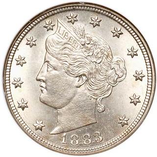 1883 No Cents Liberty Nickel obverse