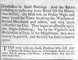 Philadelphia Halfpence riot 1740-2