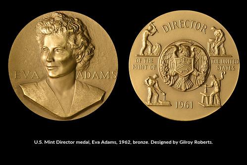 1962 Eva Adams Mint Director medal