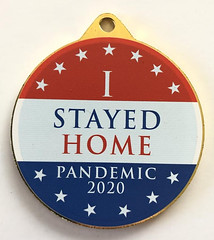 I Stayed Home Pandemic 2020 medal