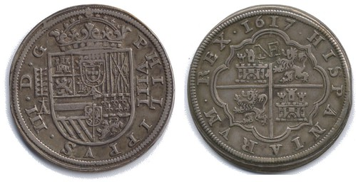 NE countermarked Spanish coin