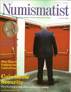 The Numismatist Janiary 2003 cover